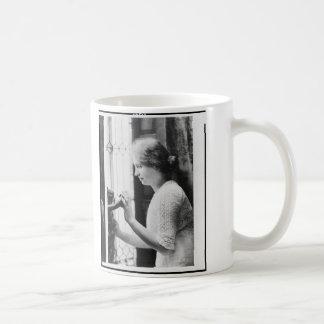 Helen Keller Watering Plants Portrait Coffee Mug