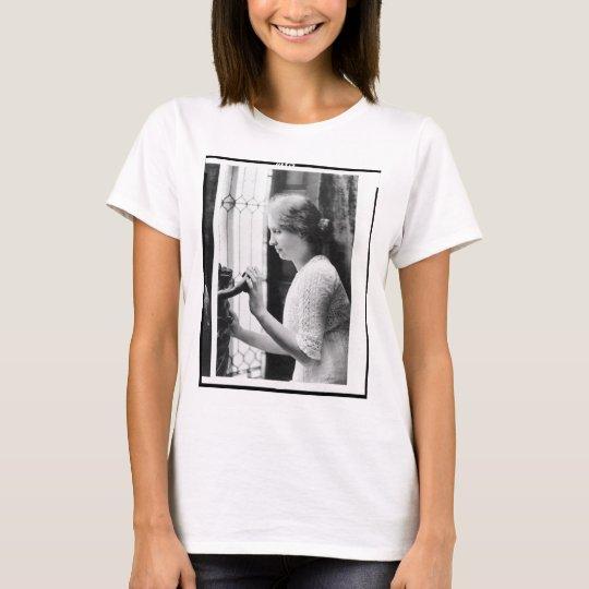 Helen Keller Watering Plants Portrait T-Shirt