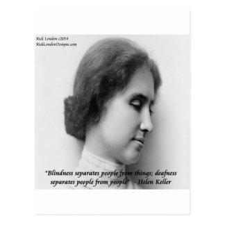 Helen Keller y cita sorda de las persianas famosa