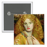 Helen of Troy, 1863 2 Inch Square Button