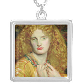 Helen of Troy, 1863 Square Pendant Necklace
