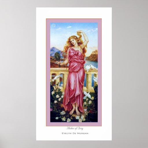Helen of Troy ~ Evelyn De Morgan Poster