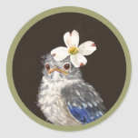 Helen the baby bluebird stickers