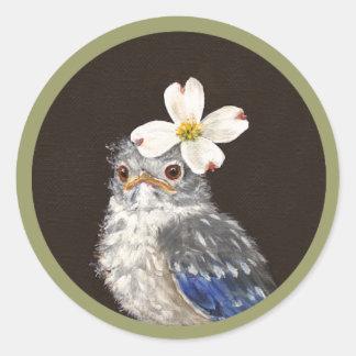 Helen the baby bluebird stickers