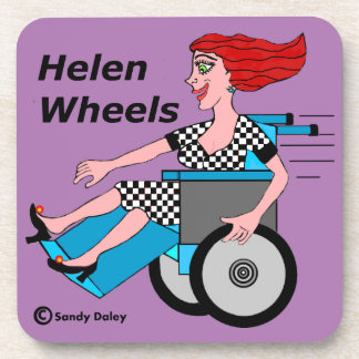 Helen Wheels Hell on Wheels Beverage Coaster