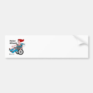 Helen Wheels Hell on Wheels Bumper Sticker