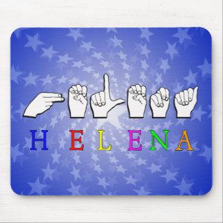 HELENA ASL NAME SIGN  FINGERSPELLED MOUSE PAD