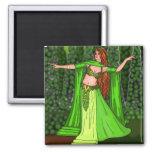 Helena Belly Dancer 2 Inch Square Magnet