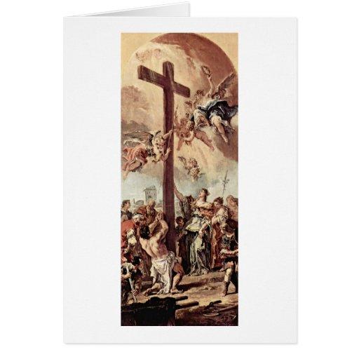 Helena encontró la cruz santa de Sebastiano Ricci Tarjeta De Felicitación