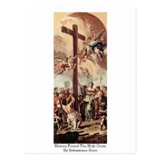 Helena encontró la cruz santa de Sebastiano Ricci Postales