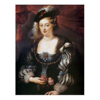 Helena Fourment by Peter Paul Rubens Postcard