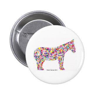 Helena Horse Paper Mosaic Button