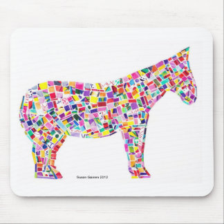 Helena Horse Paper Mosaic Mousepad