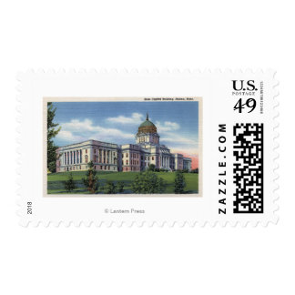 Helena, Montana - State Capitol Building View Postage