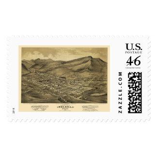 Helena, MT  Panoramic Map - 1875 Stamp