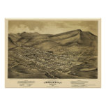 Helena, MT  Panoramic Map - 1875 Poster