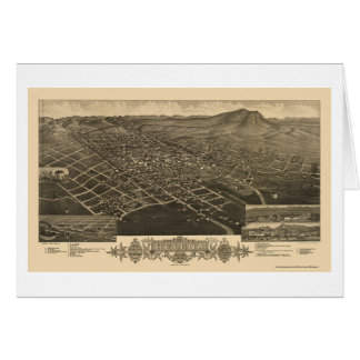 Helena, MT Panoramic Map - 1883 Card