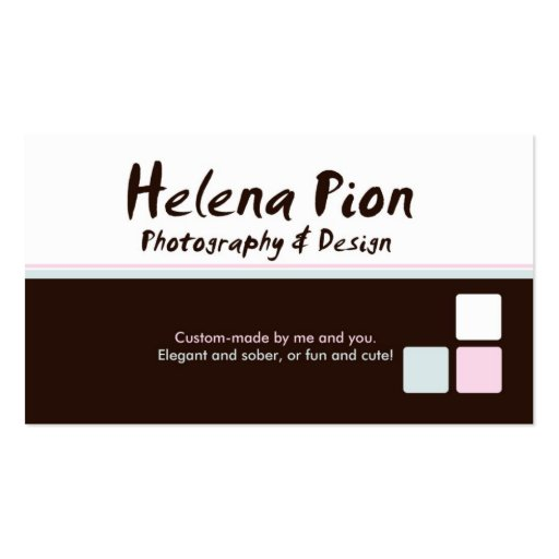 Helena Pion Double-Sided Standard Business Cards (Pack Of 100)