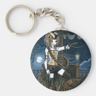 """Helena"" Sky Pirate Ship Moon Fae Keychain"