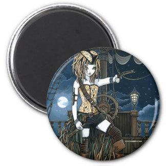 """Helena"" Sky Pirate Ship Moon Fae Magnet"