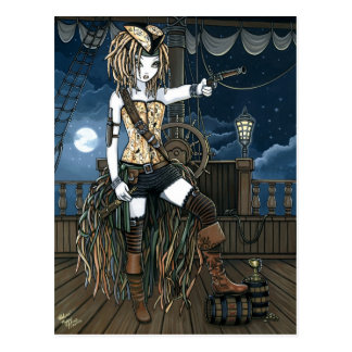 Helena Sky Pirate Ship Moon Fae Postcard