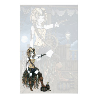 """Helena"" Sky Pirate Ship Moon Fae Stationery"