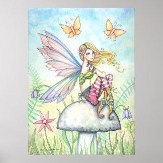 Helena's Garden Flower Fairy Poster