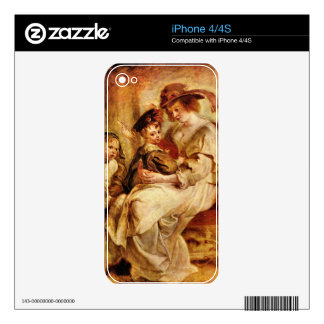 Helene Fourment with two of her children by Rubens Skins For The iPhone 4S