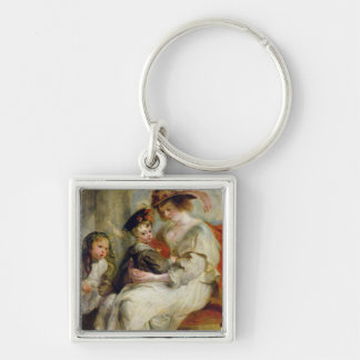 Helene Fourment  with Two of her Children Keychain