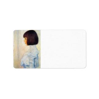 Helene Klimt portrait by Gustav Klimt Address Label