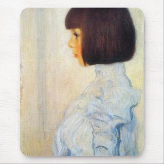 Helene Klimt portrait by Gustav Klimt Mousepad