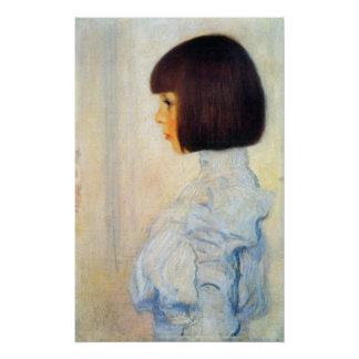Helene Klimt portrait by Gustav Klimt Posters