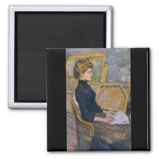Helene Vary in the study by Toulouse-Lautrec Magnet