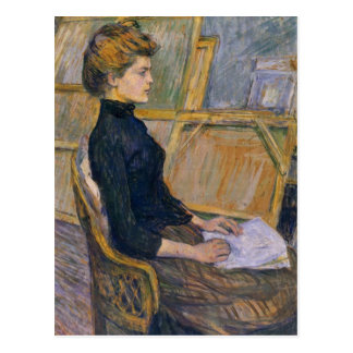 Helene Vary in the study by Toulouse-Lautrec Postcard