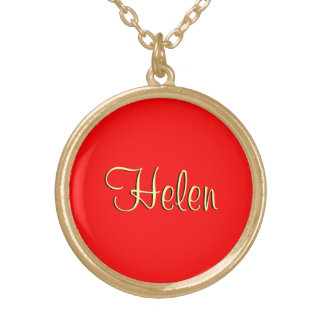 Helen's accessories in red style necklace