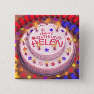 Helen's Birthday Cake Button
