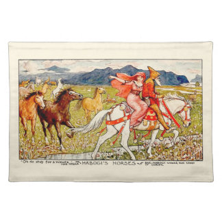 Helga Chooses Her Horse Cloth Place Mat