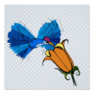 Helga Hummingbird Poster