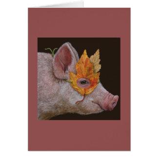 Helga la tarjeta enmascarada del cerdo