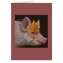 Helga the masked pig card