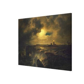 Helgoland in Moonlight, 1851 Canvas Print