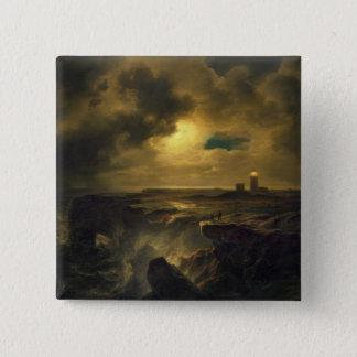 Helgoland in Moonlight, 1851 Pinback Button