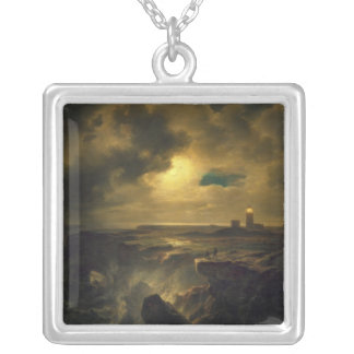 Helgoland in Moonlight, 1851 Silver Plated Necklace
