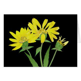 Helianthus giganteus 'Tall Sunflower' Note Card
