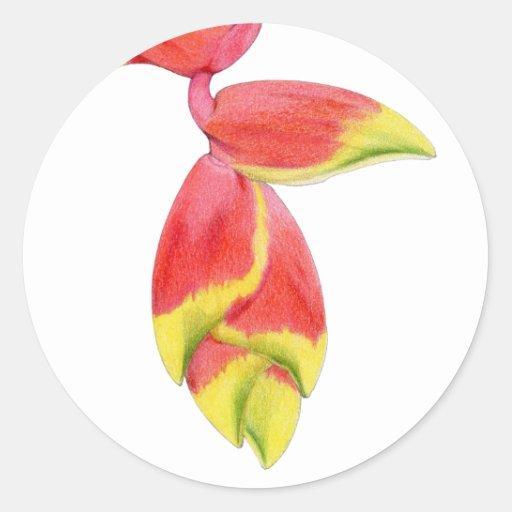 Heliconia Branch Sticker