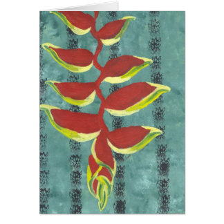 Heliconia Notecard Card
