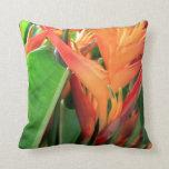 Heliconia tropical brillante floral almohadas