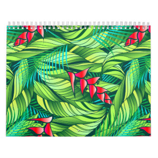 Heliconia tropical floral calendar