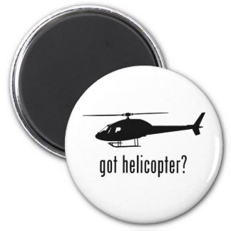 Helicopter 2 Inch Round Magnet