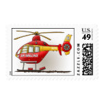 Helicopter Air Ambulance Postage Stamp